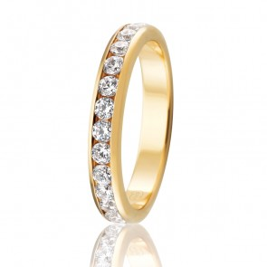 18k Diamond Eternity or Wedding Ring - 1.35ct Total Diamond Weight