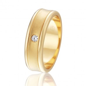 18k Diamond Wedding Band - 0.06ct