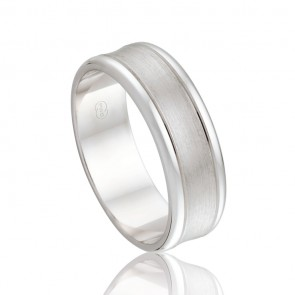 18k White Gold Wedding Ring