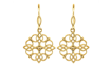 Gold Fashion Earrings