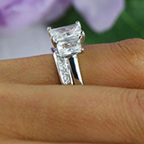 1.80ct Radiant Cut Diamond with Trapezoid side stones