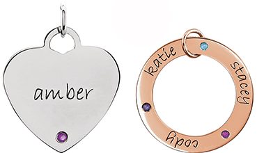 Engravable Birthstone Jewellery