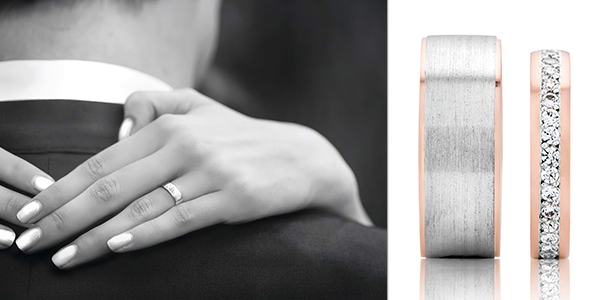 Celebrate your love & customize your special rings with engraving inside or out